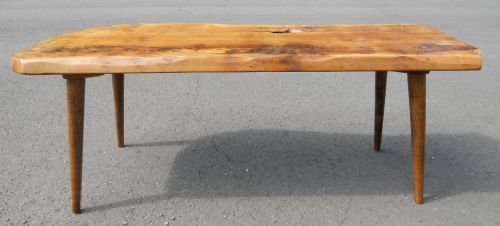 SOLD - Real Wood, Rustic Style Long Coffee Table